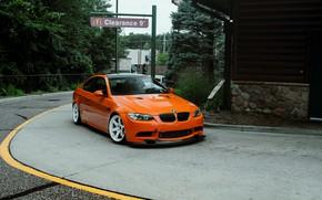 Picture bmw, orange, e92, m3