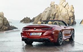 Picture rock, shore, BMW, convertible, feed, 2019, BMW M8, M8, F91, M8 Competition Convertible, M8 Convertible