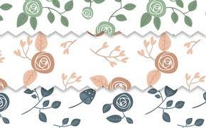 Picture white, background, roses, texture, buds, vintage, patterns, roses, GREEN