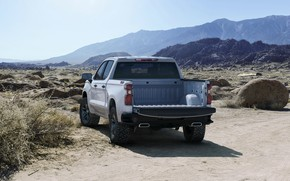 Picture white, Chevrolet, body, pickup, Silverado, Z71, Trail Boss, 2019, Silverado LT
