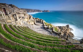 Picture England, Cornwall, the village Porthcurno, Theatre Minek