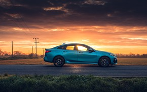 Picture sunset, the evening, BMW, side view, Gran Coupe, UK-spec, 2-Series, M Sport, 2020, 218i, F44