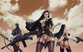 Picture weapons, war, sisters, LIU Mingxing, Nuns of the mission