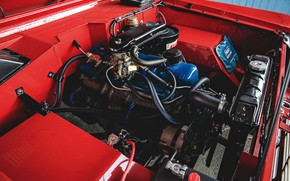 Picture red, engine, Roadster, Ford, 1966, Bronco