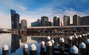 Picture the sky, the city, Marina, Australia, Melbourne, Melbourne