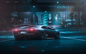 Wallpaper Auto, Lamborghini, Machine, NFS, Lamborghini Murcielago, Murcielago, Rendering, Game Art, Payback, Transport & Vehicles, by ...