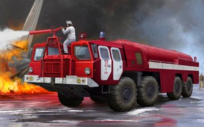 Picture MAZ-7310, Machinery, Fire truck airport, Fire truck