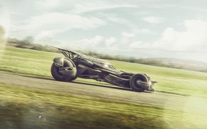 Picture field, the sky, transport, car, The Batmobile