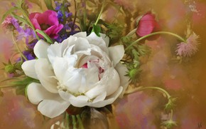 Picture flowers, rose, a bunch