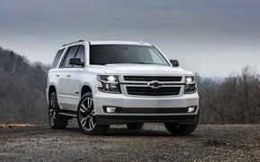 Picture white, the sky, Chevrolet, 2018, SUV, Tahoe