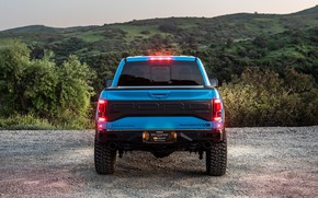 Picture lights, Ford, rear view, Raptor, pickup, F-150, Hennessey, 2019, VelociRaptor V8