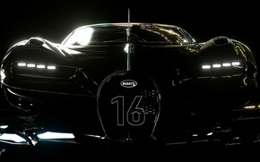 Picture Auto, Black, Game, Look, Machine, Bugatti, Lights, Vision, Race, Hypercar, Beautiful, Evil, Black, Gran Turismo …