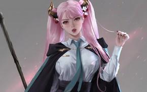 Picture minimal, girl, magic, pink, anime