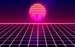 Picture The sun, Music, Space, Star, 80s, Neon, 80's, Synth, Retrowave, Synthwave, New Retro Wave, Futuresynth, …