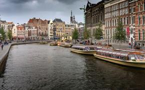 Wallpaper river, Amsterdam, Netherlands, Holland