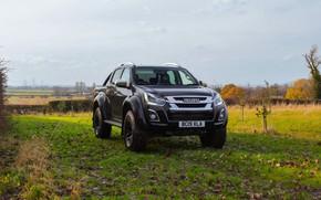 Picture black, meadow, pickup, Isuzu, 2020, Arctic Trucks, D-Max, UK version, AT35