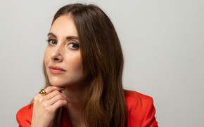 Picture look, girl, face, actress, brown hair, Alison Brie