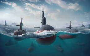 Picture The ocean, Sea, The game, Submarine, Boats, Art, Game, Submarine, Submarines, Game Art, Submarine, Environments, …