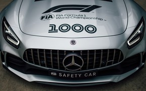 Picture Mercedes-Benz, front view, Formula 1, AMG, Safety Car, GT R, 2019