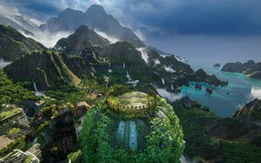Picture forest, landscape, nature, the city, jungle, Uncharted: The Lost Legacy