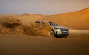 Picture sand, movement, Audi, E-Tron, 2019