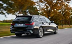 Picture black, BMW, body, 3-series, universal, 3P, 2020, 2019, G21, M340i xDrive Touring