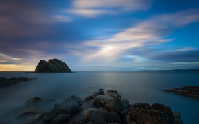 Picture sunset, stones, rocks, coast, the evening, Costa Rica, Guanacaste