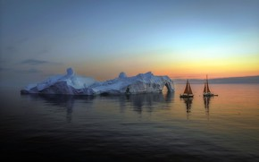 Picture ice, arctic, sailing, Greenland
