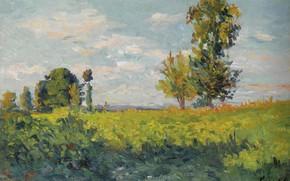 Picture landscape, picture, FIELD, 1905, Maximilien Luce, Maximilien Luce