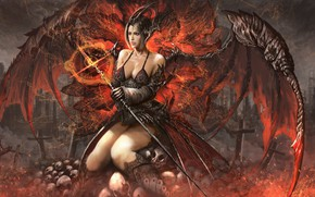 Picture girl, the demon, demoness