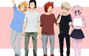 Picture Boku no Hero Academy, My Hero Academia, Kaminari Denki, Bakugou Katsuki, Ashido Mina, Sero Hanta, …