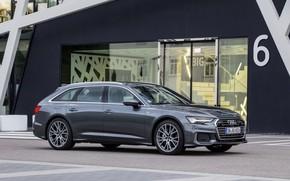 Picture Audi, facade, 2018, universal, dark gray, A6 Avant