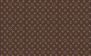 Picture wall, patterns, brown, patterns, fon, louis vuitton, Louis Vuitton, LV