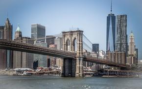 Picture Bridge, The city, Brooklyn, Manhattan