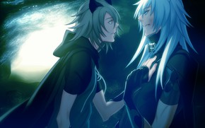 Picture the moon, the game, anime, art, guys, Lamento