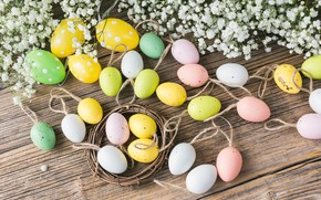 Picture holiday, Easter, Eggs, Decoration, composition