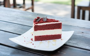 Picture chocolate, plate, cake, cream, dessert, cakes, biscuit