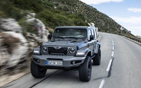 Picture road, mountains, Wrangler, Jeep, Unlimited, 2019, Militem, Ferōx