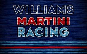 Picture wallpaper, sport, logo, Formula 1, Williams Martini Racing
