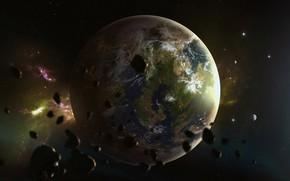 Picture Stars, Planet, Space, Blizzard, Art, Space, Art, Satellite, Asteroids, StarCraft, Zerg, Space, Game Art, Zerus, …