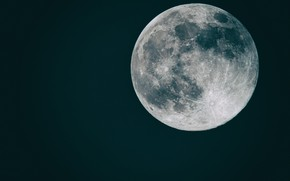 Picture space, background, flat moon