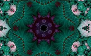 Picture flower, pattern, green, fractal
