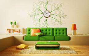 Wallpaper design, pillow, table, modern, carpet, watch, interior, sofa