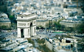 Picture France, Paris, area, panorama, Arch