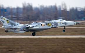 Picture Ukraine, Su-24, Landing, Su-24MR, WFP, Chassis, Ukrainian air force, PTB