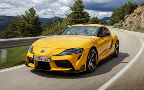 Picture road, vegetation, coupe, slope, Toyota, Supra, the fifth generation, mk5, double, 2019, GR Above, A90, …