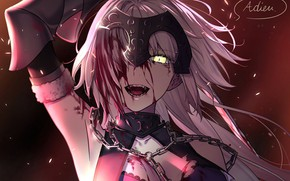 Picture girl, blood, crazy, Avenger, Joan of Arc, Fate / Grand Order, Age, The destiny of …