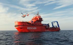 Picture The ocean, Sea, Helicopter, The ship, Technique, Vessel, Rosmorrechflot, Murman, M/V Murman, Salvage, MPSV Murman, …