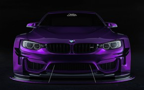 Picture Auto, Machine, Lights, Purple, The front, Transport & Vehicles, Javier Oquendo, by Javier Oquendo, BMW …