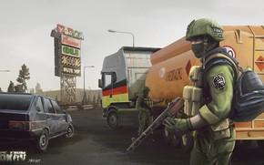 Picture Machine, Soldiers, Machine, Art, Mercenaries, PCA, BEAR, R.2028, Russia 2028, PMC, Alexandr Ursegov, Battlestate Games, …